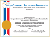 Campus Community Collaboration Certificate